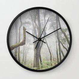Garajonay National Park. Foggy Mistery Forest. la Gomera Wall Clock