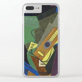 """Juan Gris """"Guitare sur une table (Guitar on a table)"""" Clear iPhone Case"""