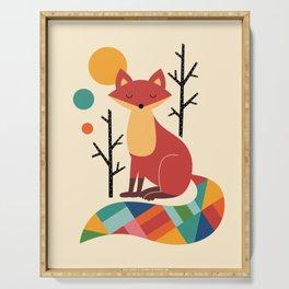 Rainbow Fox Serving Tray