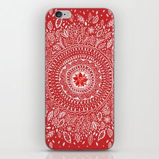 Poinsettia Mandala iPhone & iPod Skin