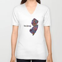 new jersey V-neck T-shirts featuring New Jersey by gretzky