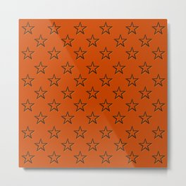 Orange stars pattern Metal Print