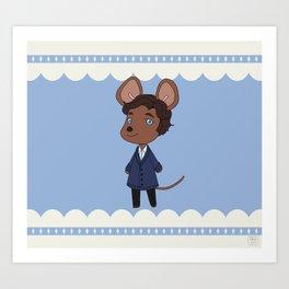 An adorable lab rat Art Print