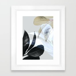 Moody Leaves II Framed Art Print