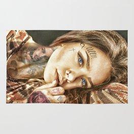 Tattoo Model Painting | Tattoo Shop Rug