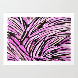 Pink Zebra Art Print