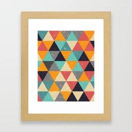 Trianglify Framed Art Print