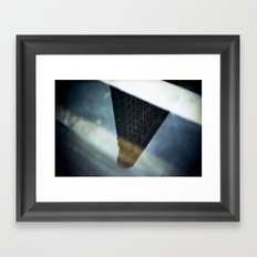 Flatiron Puddle Reflection Framed Art Print