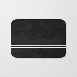 Infinite Road - Black And White Abstract Bath Mat