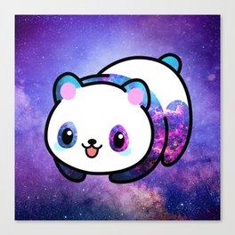 Kawaii Galactic Mighty Panda Canvas Print