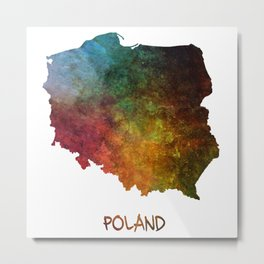 Poland map Metal Print