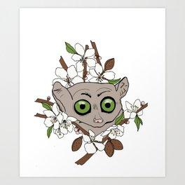 Bush Baby & Almond Tree Art Print
