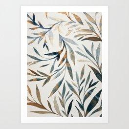 leaves 15s Art Print