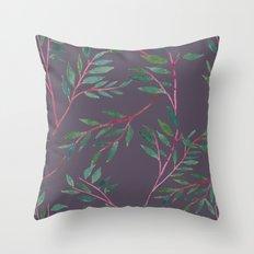 2016 Calendar Print - Red Branch Throw Pillow