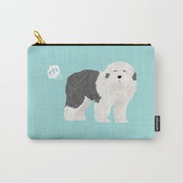 old english sheepdog farting dog cute funny dog gifts pure breed dogs Carry-All Pouch