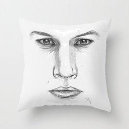 Kylo Ren/Adam Driver Portrait Throw Pillow