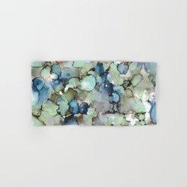 Alcohol Ink Sea Glass Hand & Bath Towel