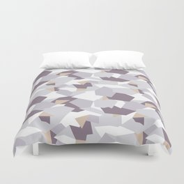Violet abstract forms Duvet Cover