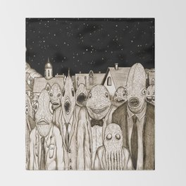 Innsmouth Meeting Throw Blanket