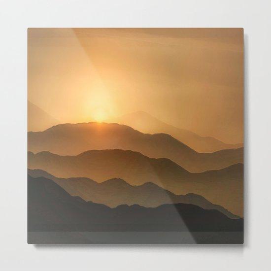 Sunrise in the mountains - beautiful morning - #Society6 #buyart Metal Print