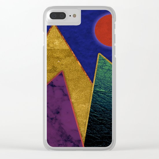 Abstract #424 Clear iPhone Case