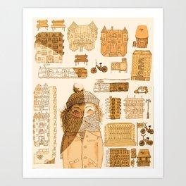 HELSINkiva! Art Print