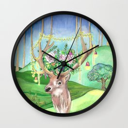 Magic Forest Friend Wall Clock