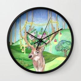 Magic Forest Friend Wall Clock