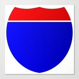 Interstate Shield Sign Canvas Print