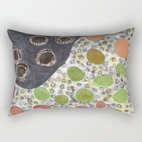 Playful Yin and Yang Pattern Rectangular Pillow