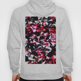 psychedelic geometric triangle polygon abstract pattern in red pink black Hoody