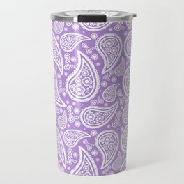 Paisley (White & Lavender Pattern) Travel Mug