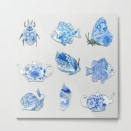 Brave Snail Metal Print