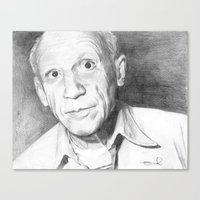 pablo picasso Canvas Prints featuring Picasso by Brad Markley