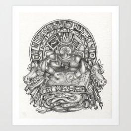Aztec DJ Art Print
