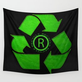 Recycle Logo Wall Tapestry