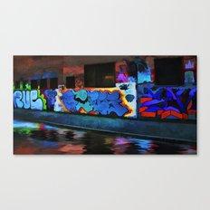 Neon Graffiti Canvas Print