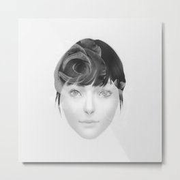 Roses - Black and White Metal Print