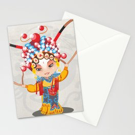 Beijing Opera Character HuSanNiang Stationery Cards