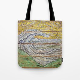 Waves on Grain Tote Bag