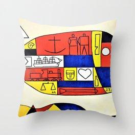 El Pez - Joaquin Torres Garcia Throw Pillow