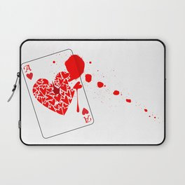Ace of Hearts With Blood Laptop Sleeve