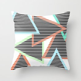 Sunset Triangles Throw Pillow