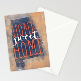 home sweet home alabama - orange and blue Stationery Cards