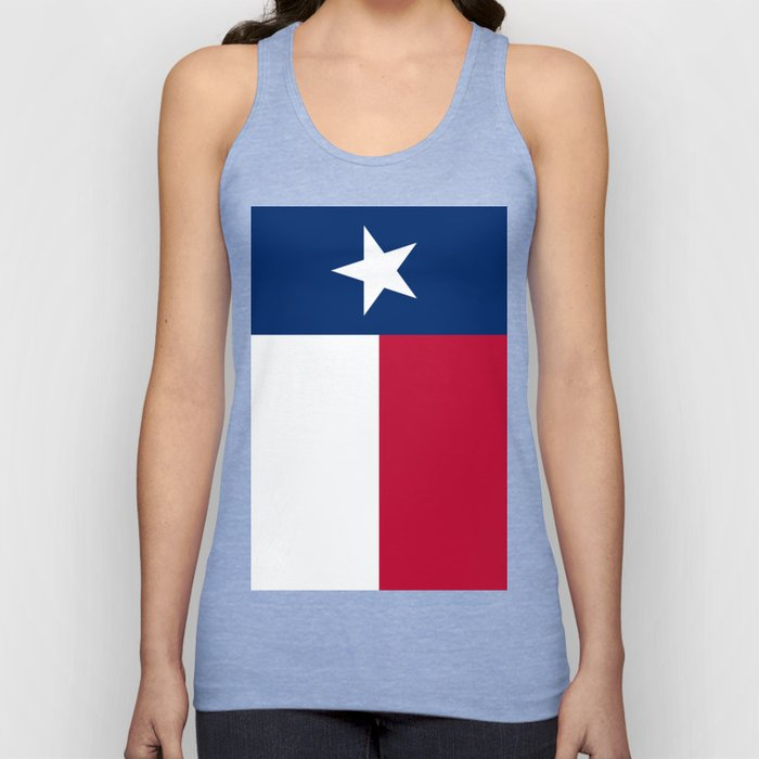 Texas state flag, High Quality Vertical Banner Unisex Tank Top