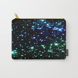 Brilliant Blue Green Galaxy Space Stars Carry-All Pouch