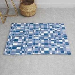 Mod Gingham - Blue Rug