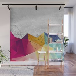Polygons on Concrete Wall Mural