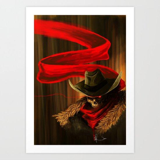 Skull Cowboy Art Print
