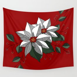 Holiday Flowers Wall Tapestry